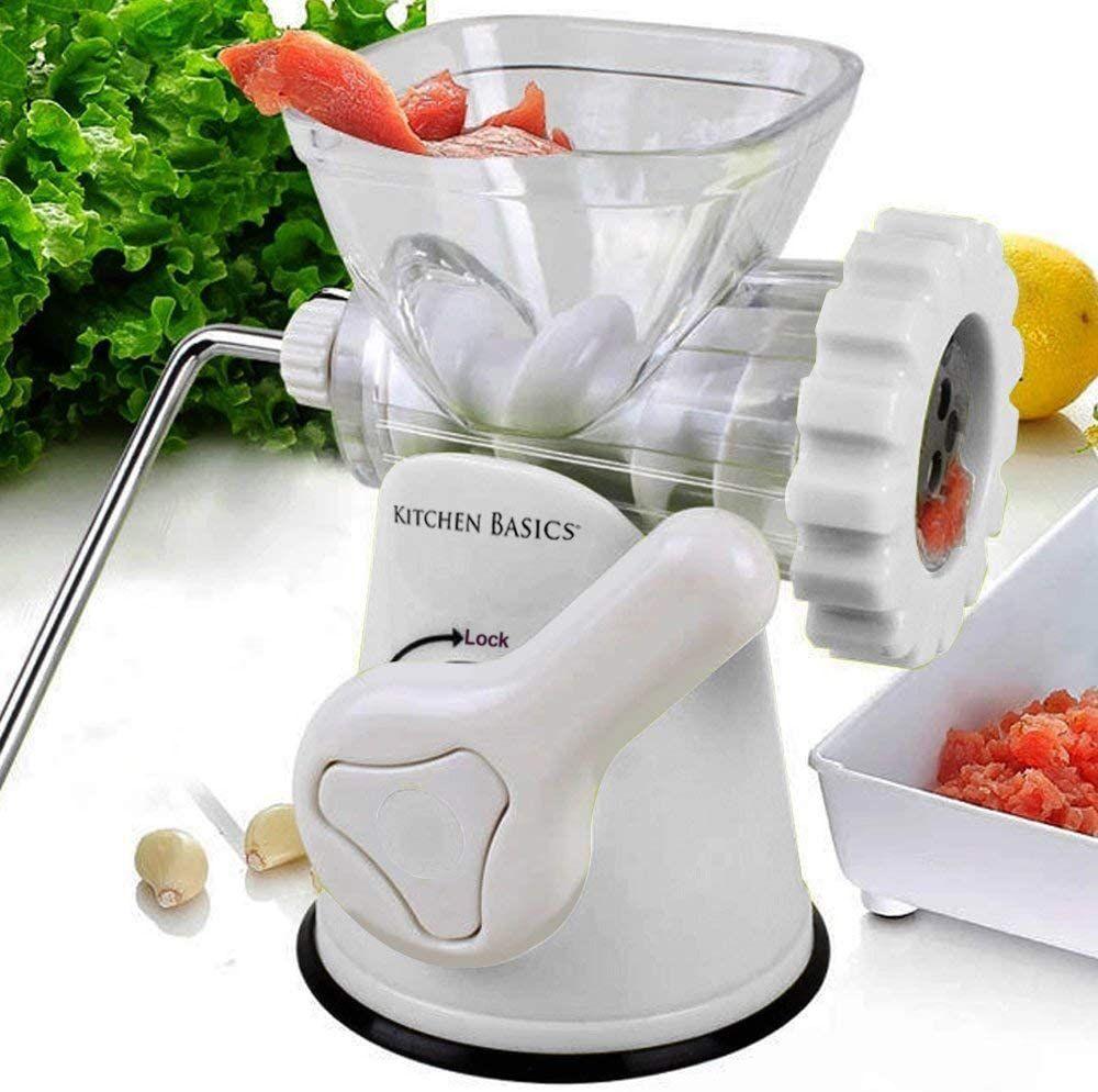F&W Kitchen Basics 3 N 1 Manual Meat and Vegetable Grinder