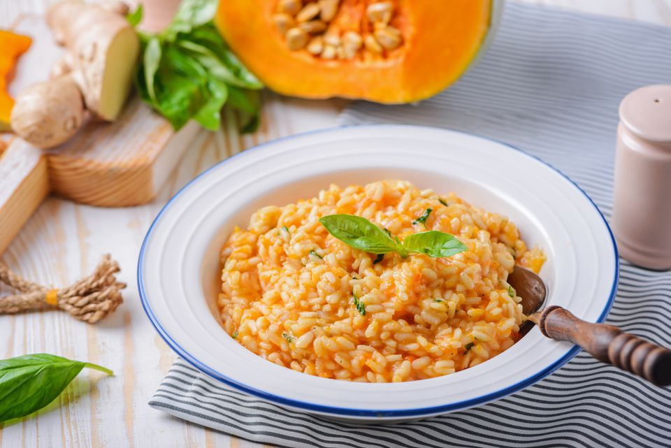 Vegan pumpkin risotto