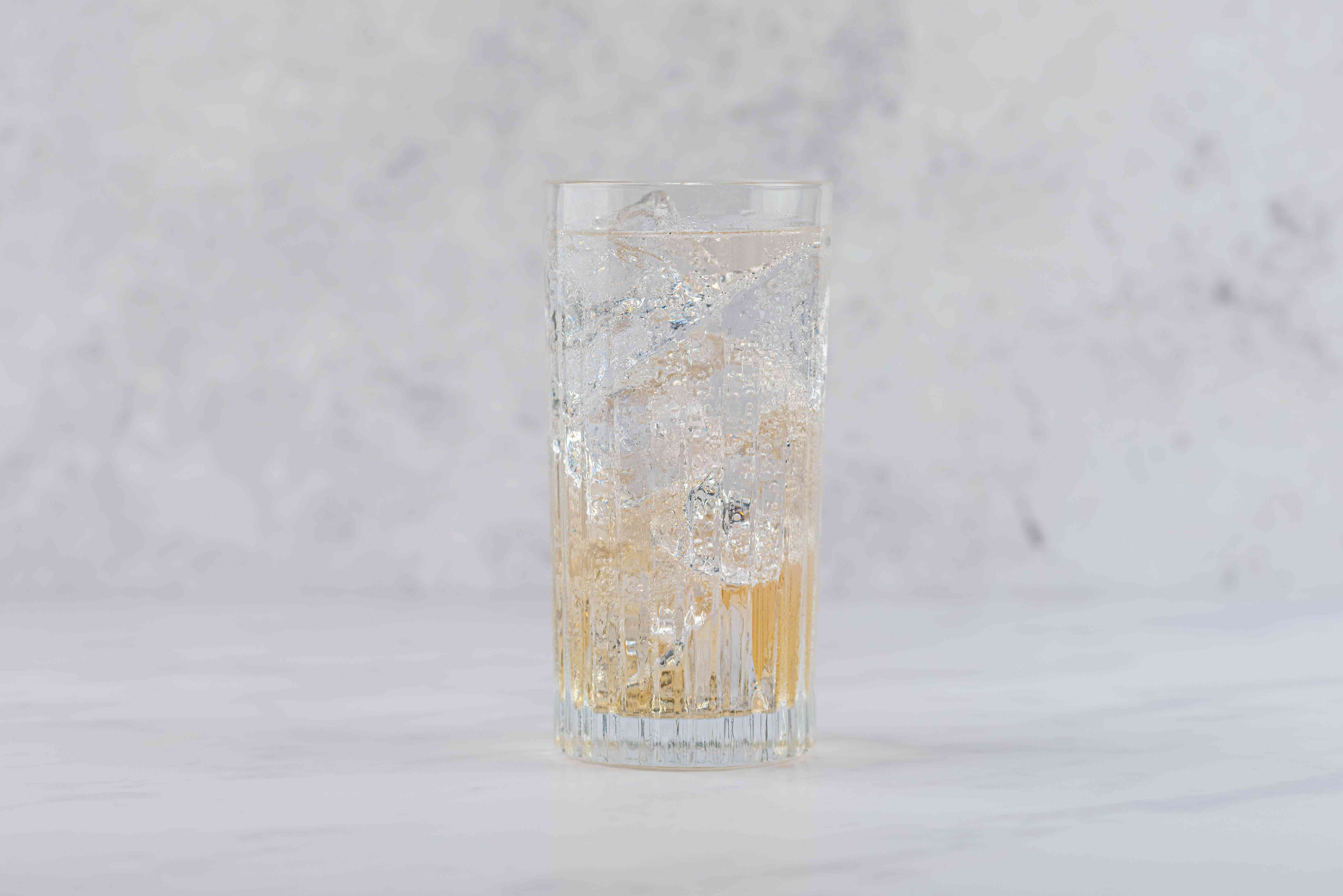 top liquor and champagne with club soda