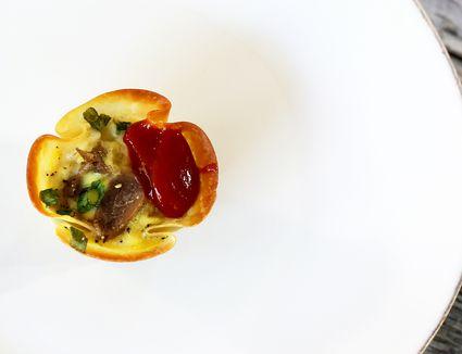 mini quiche with pork