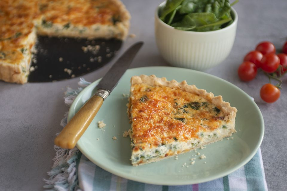 Spinach, Cheese and Onion Quiche