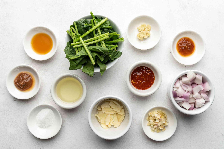 Sambal Kangkung With Shrimp Paste ingredients