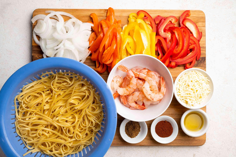 One-Pot Pasta: Shrimp Fajita Linguine ingredients