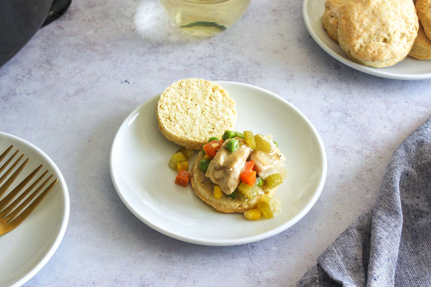 Slowcooker chicken and biscuits