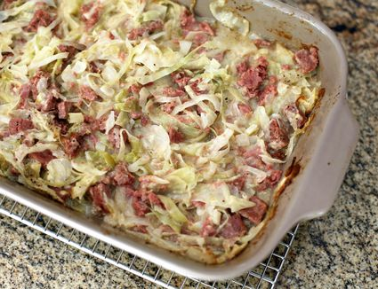 5-ingredient corned beef and cabbage casserole