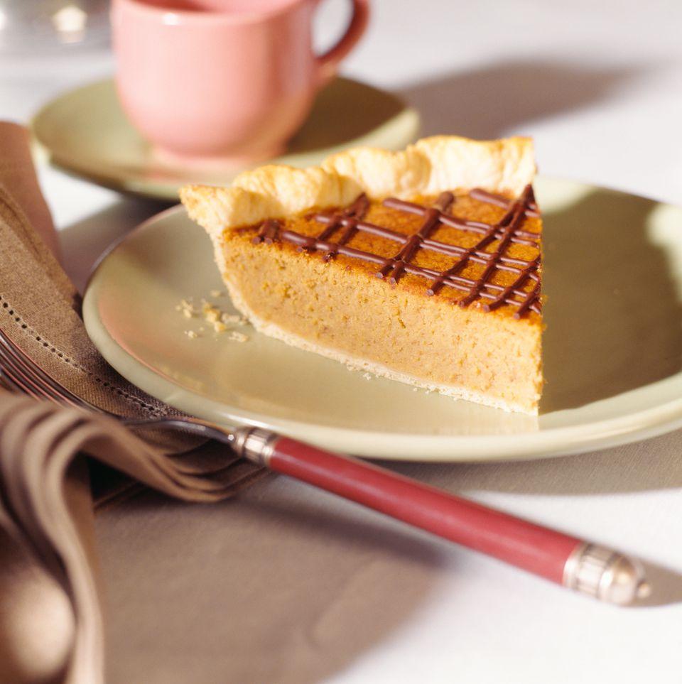 Pumpkin Pie with chocolate