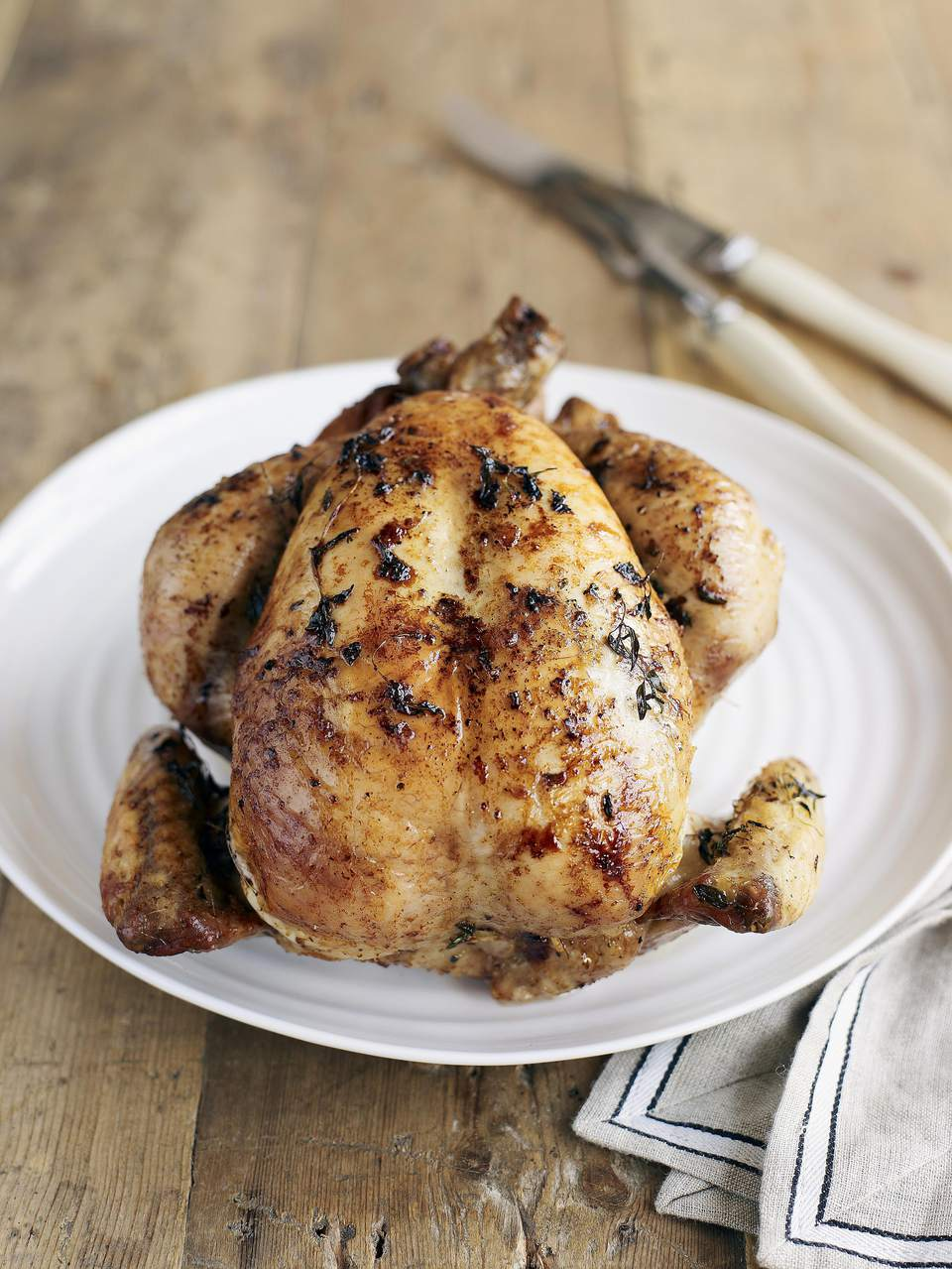 Garlic-Lemon Rotisserie Chicken
