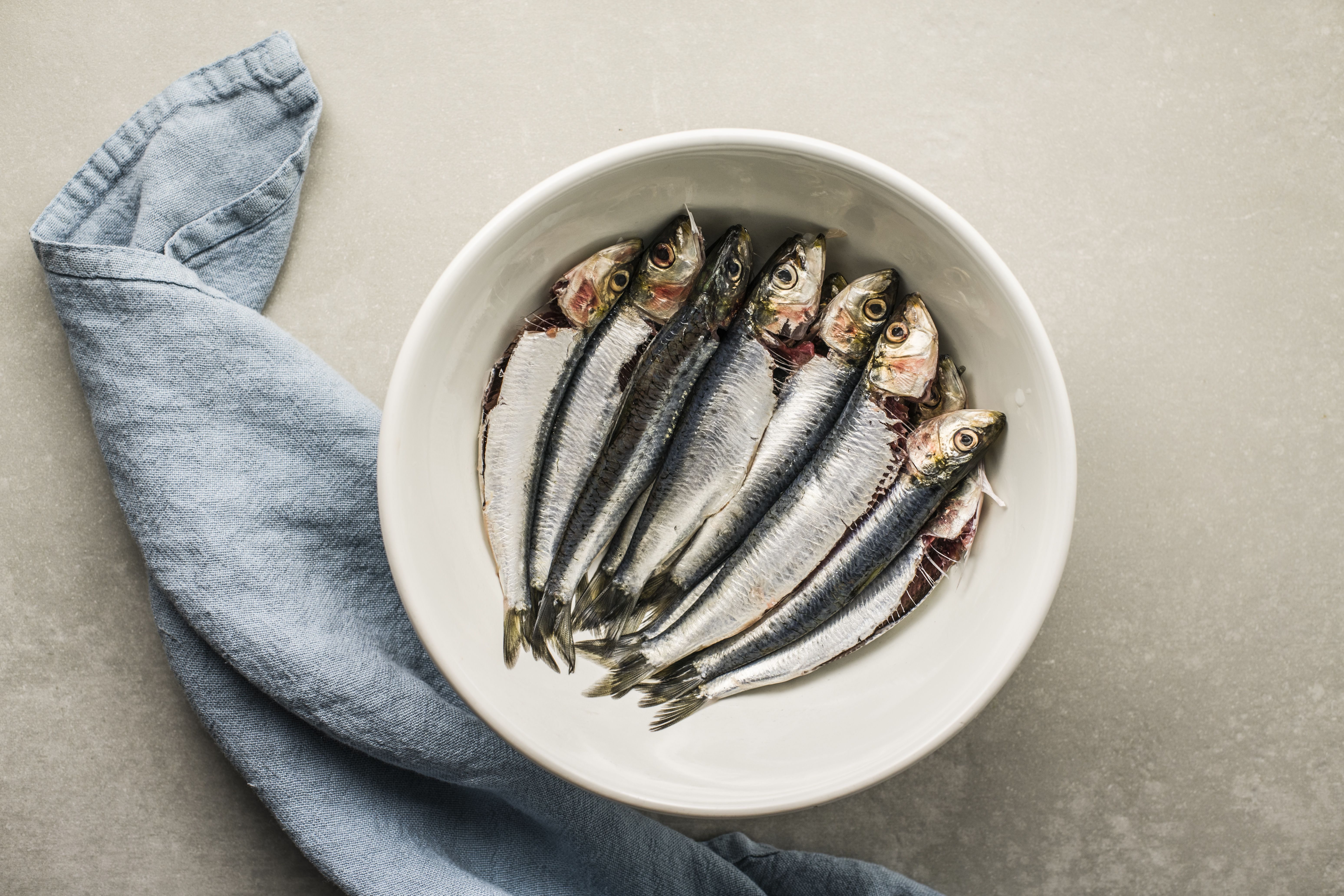 Sardines in a bowl