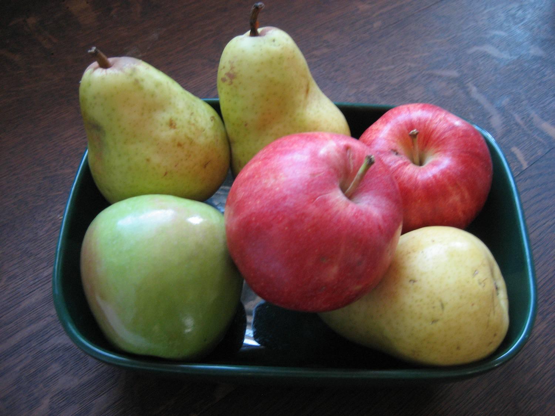 Serve fruit with Parmigiano-Reggiano