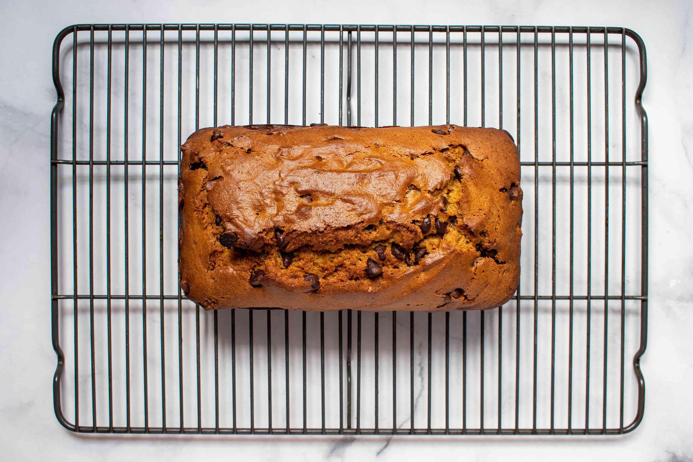 Pumpkin Bread on a cooling rack