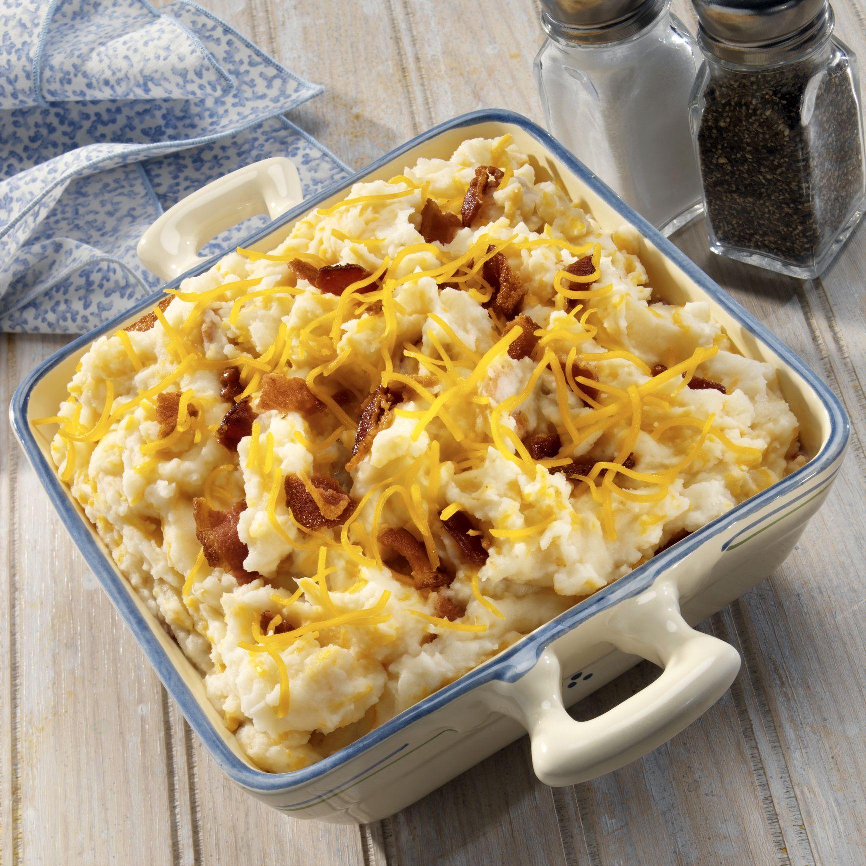 Heavenly Loaded Mashed Potato Casserole