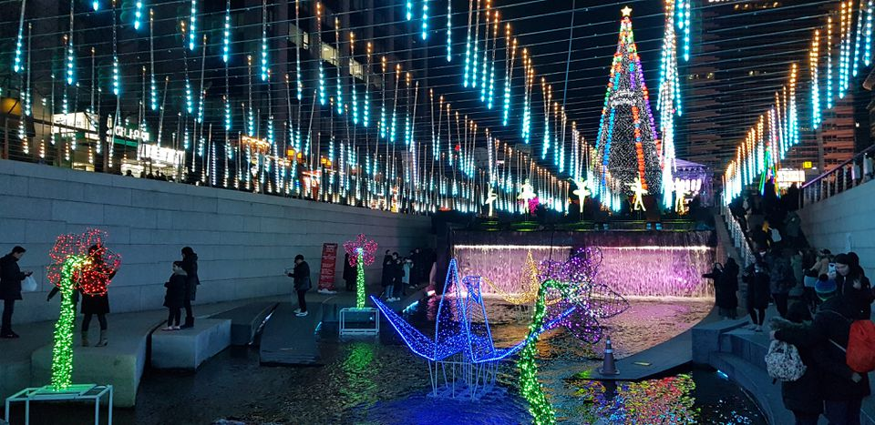 Christmas festival in Seoul, South Korea