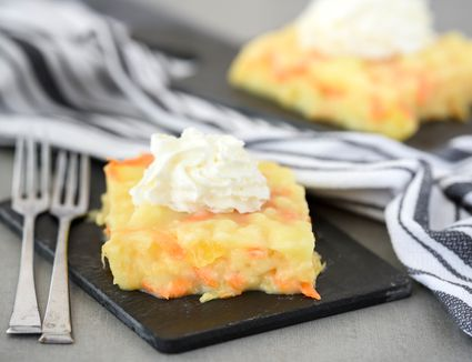 Creamy carrot and pineapple gelatin salad recipe