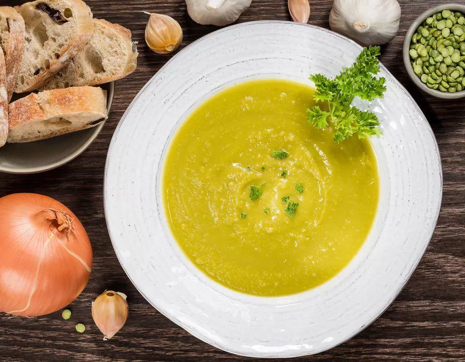 Fat-Free Vegan Split Pea and Potato Soup