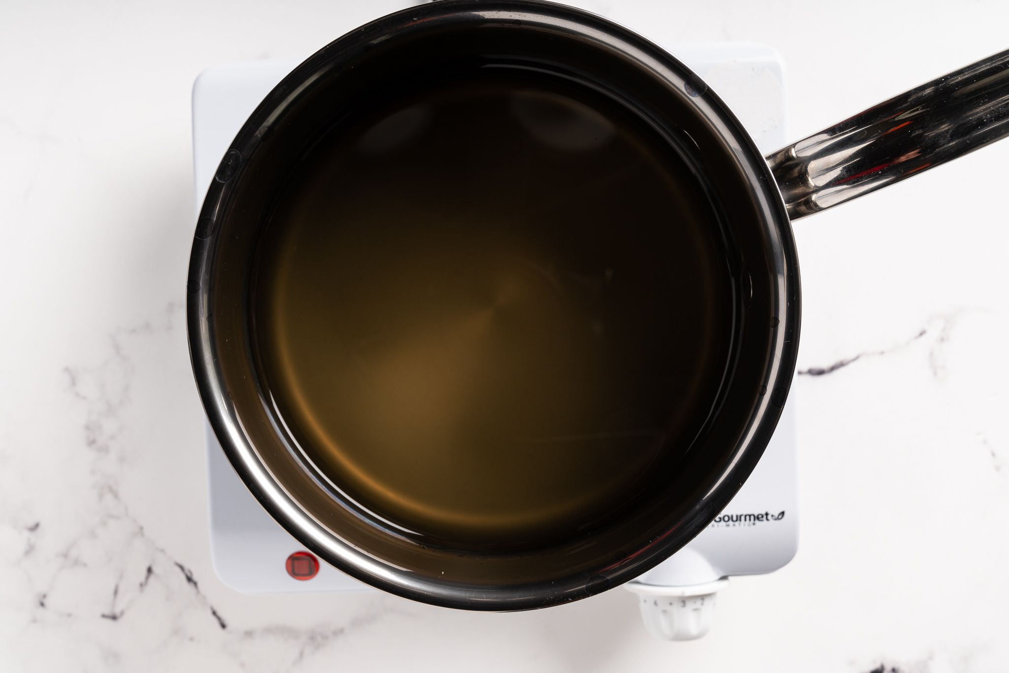 vegetable broth in a pot
