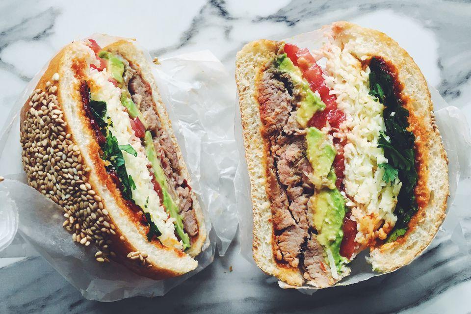 Mexican Pueblan Cemita Sandwich