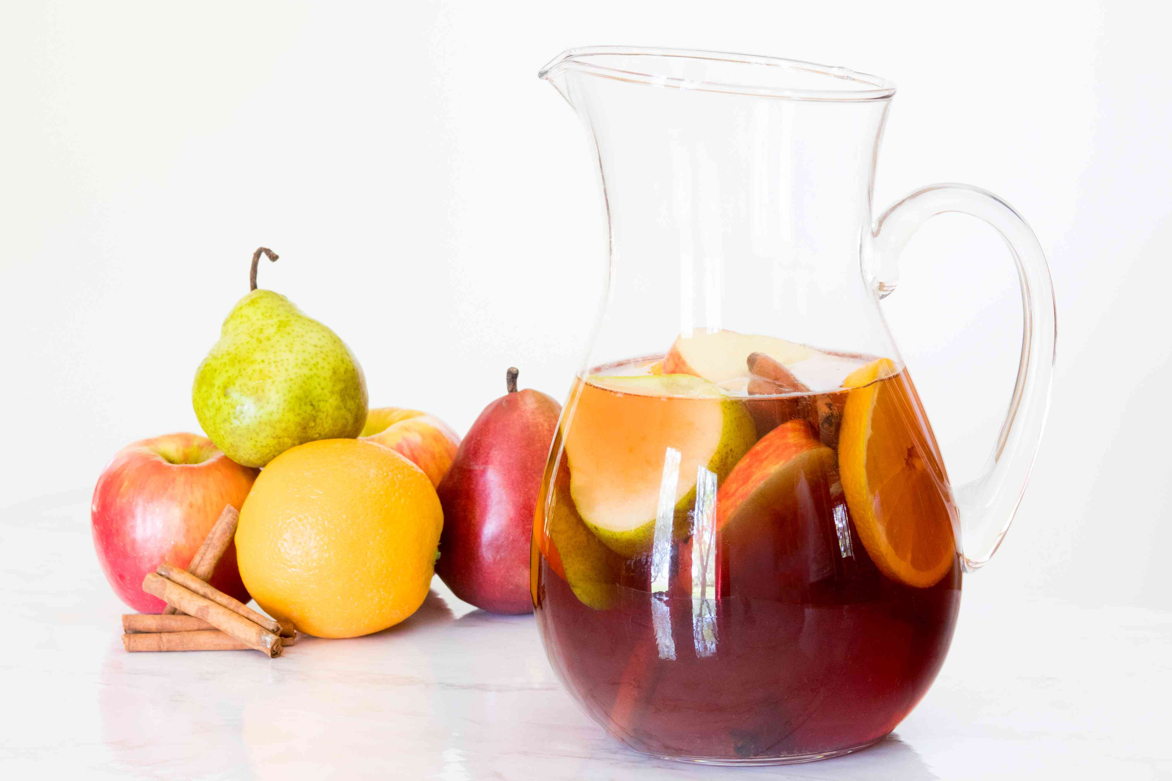 Apples, Pears, Oranges, and Cinnamon for a Fall Sangria