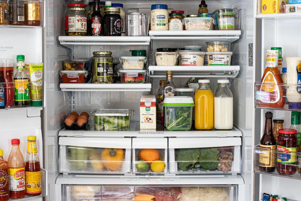 An organized refrigerator.