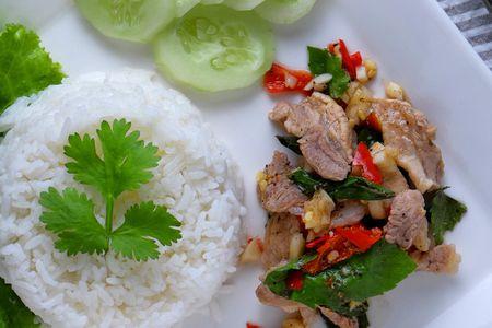 Thai Basil Pork (Gaprao Moo Kai Daao)