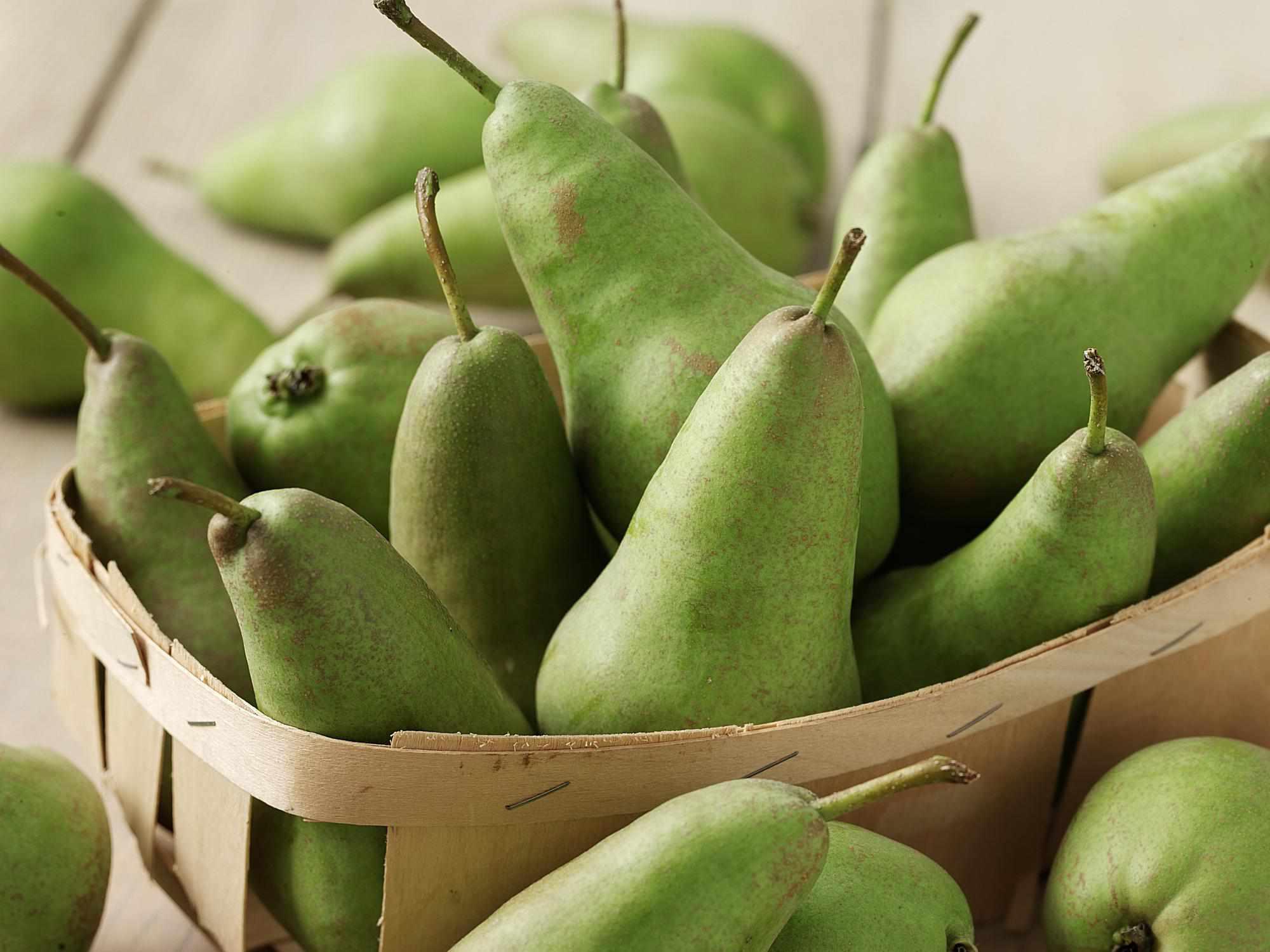 Basket of Green Pears