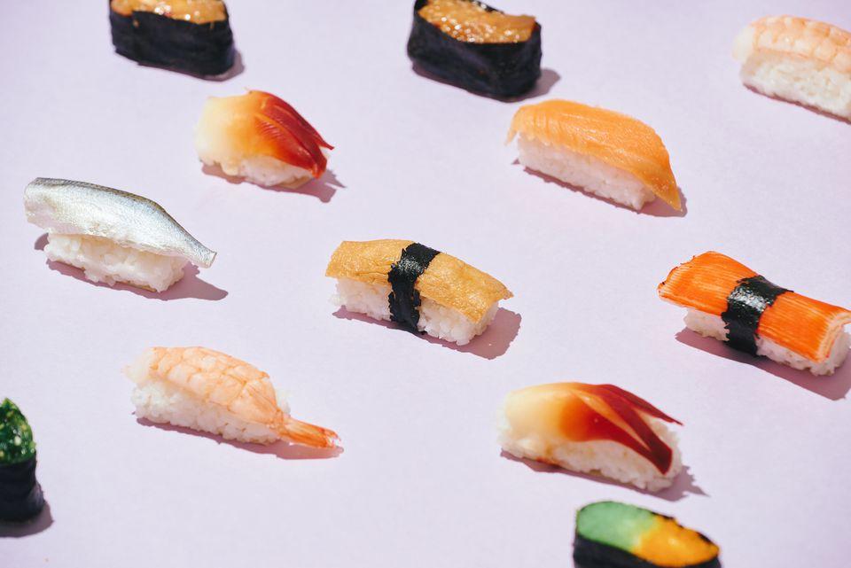 variety of nigiri sushi
