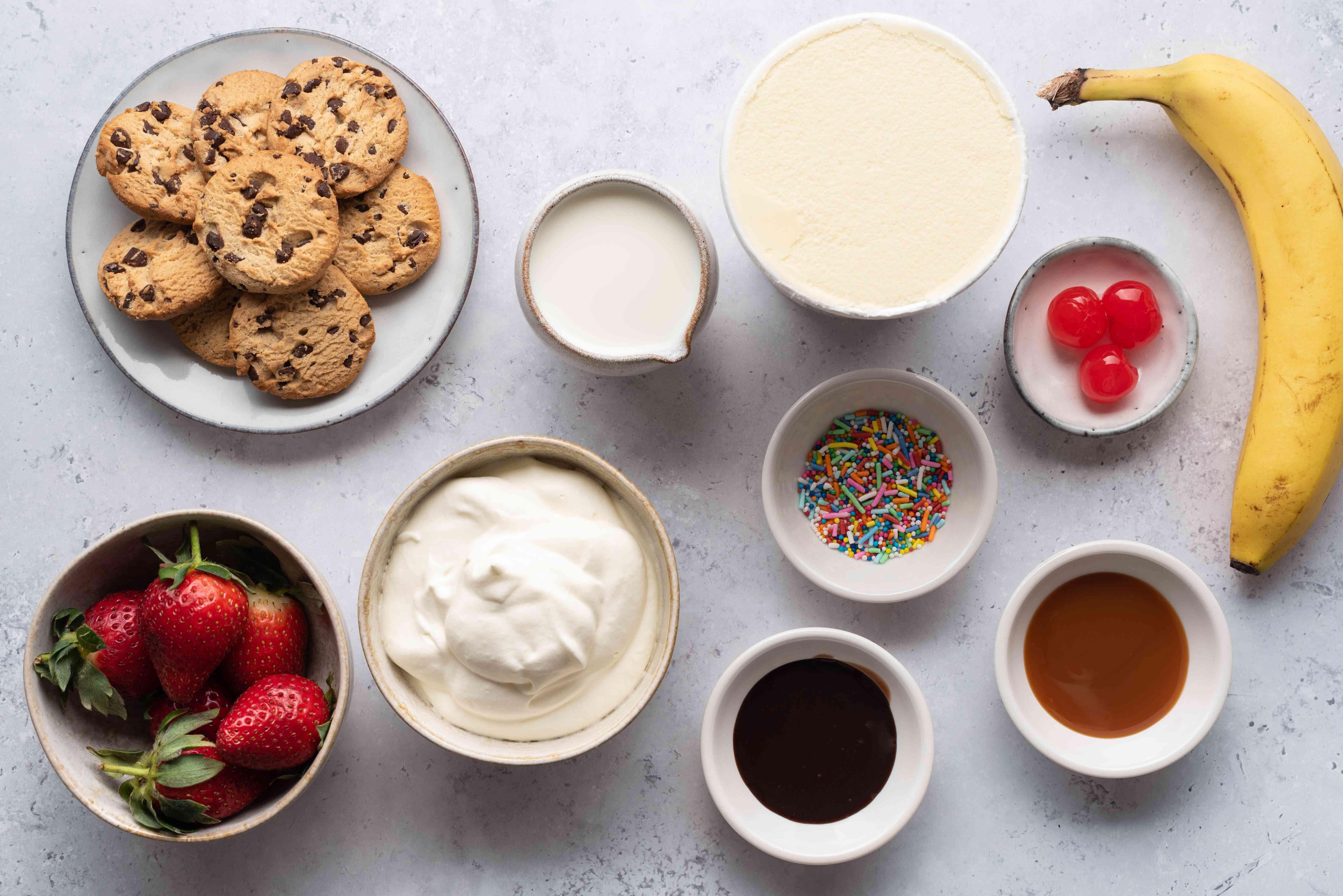 Cookie Milkshake ingredients