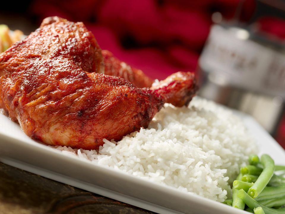 Pollo asado a la parrilla Tandoori