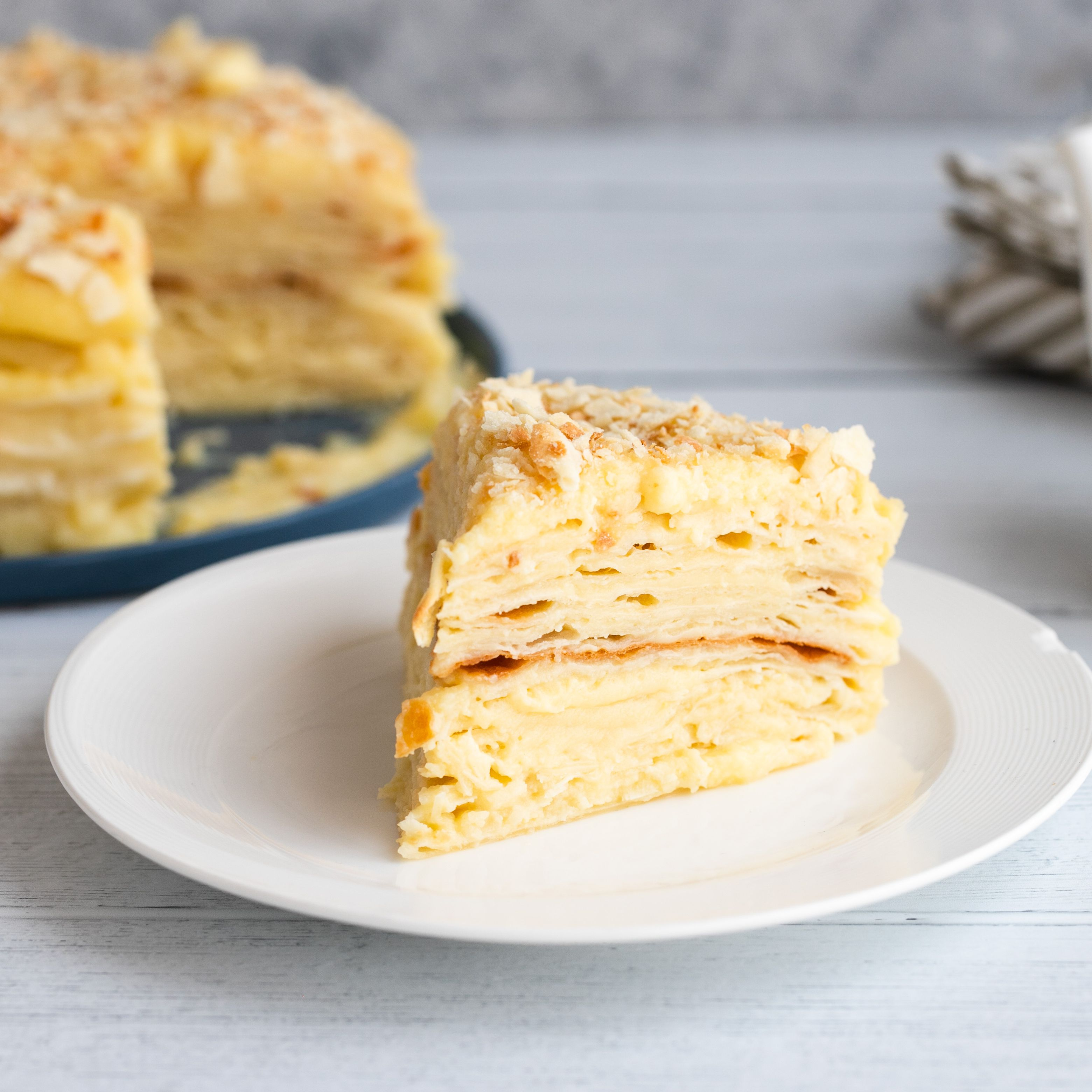 Russian Napoleon Cake (Napolyeon Tort)