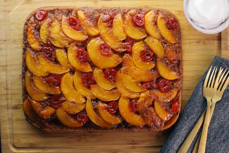 Easy Cake Mix Peach Upside-Down Cake
