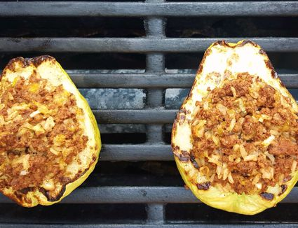 Chayote Relleno on the Grill
