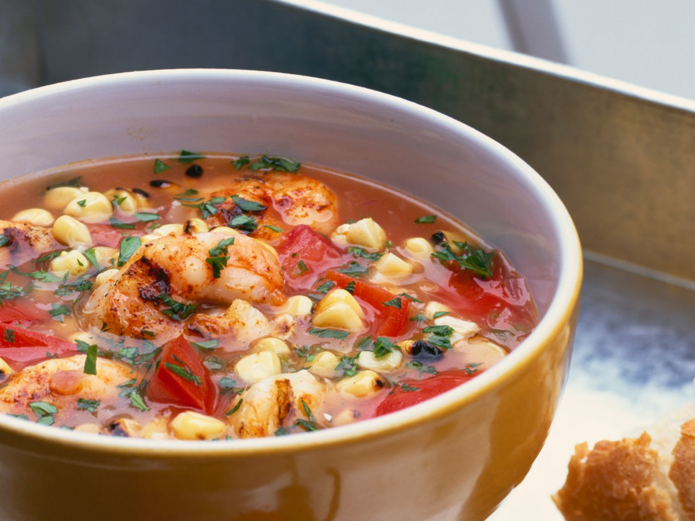 Creole Corn and Shrimp Soup