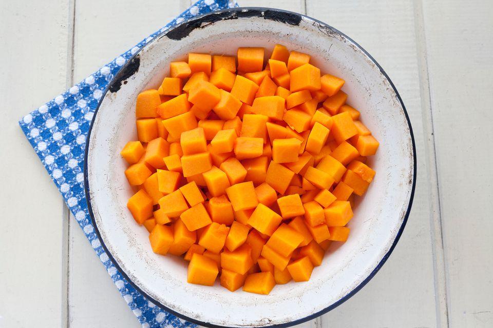 Diced pumpkin
