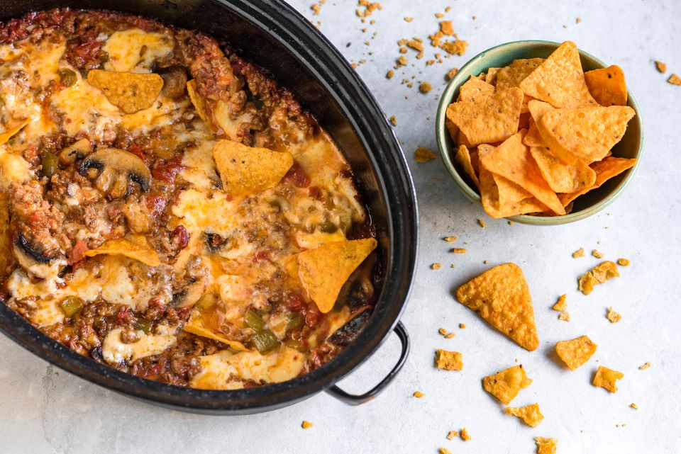 Crock Pot Ro Tel Dip With Ground Beef And Cheese