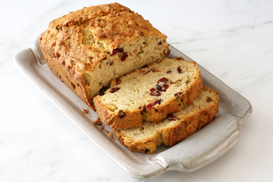 apple bread with cranberries or dates