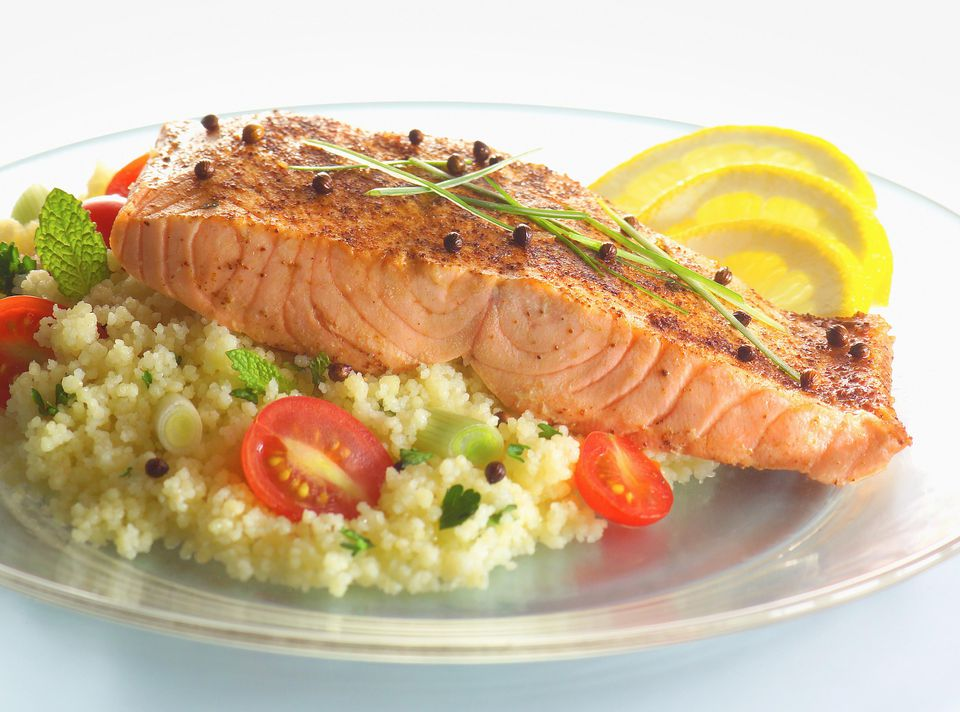 Salmon with lemon couscous