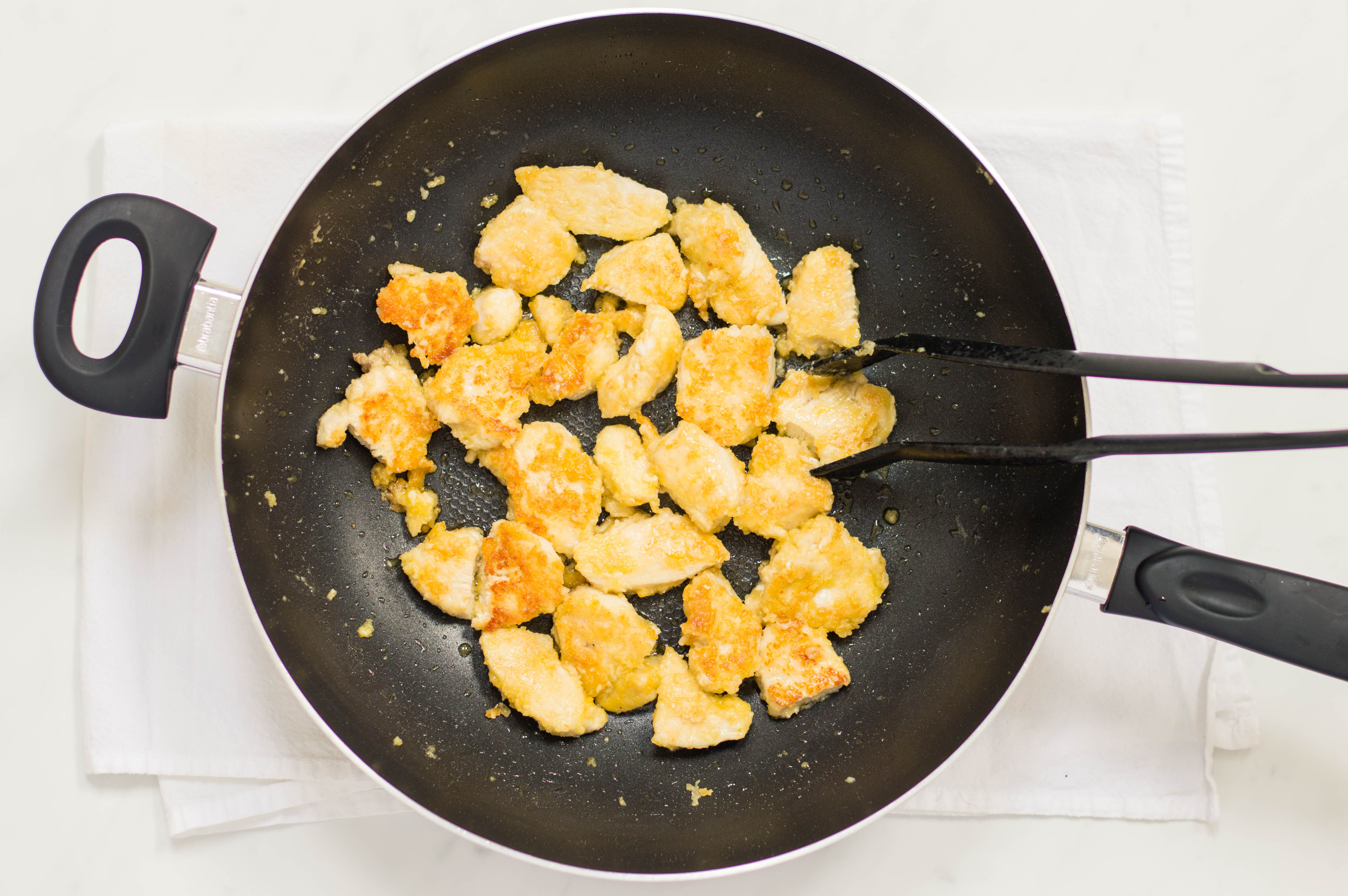 Chicken cooked in a wok