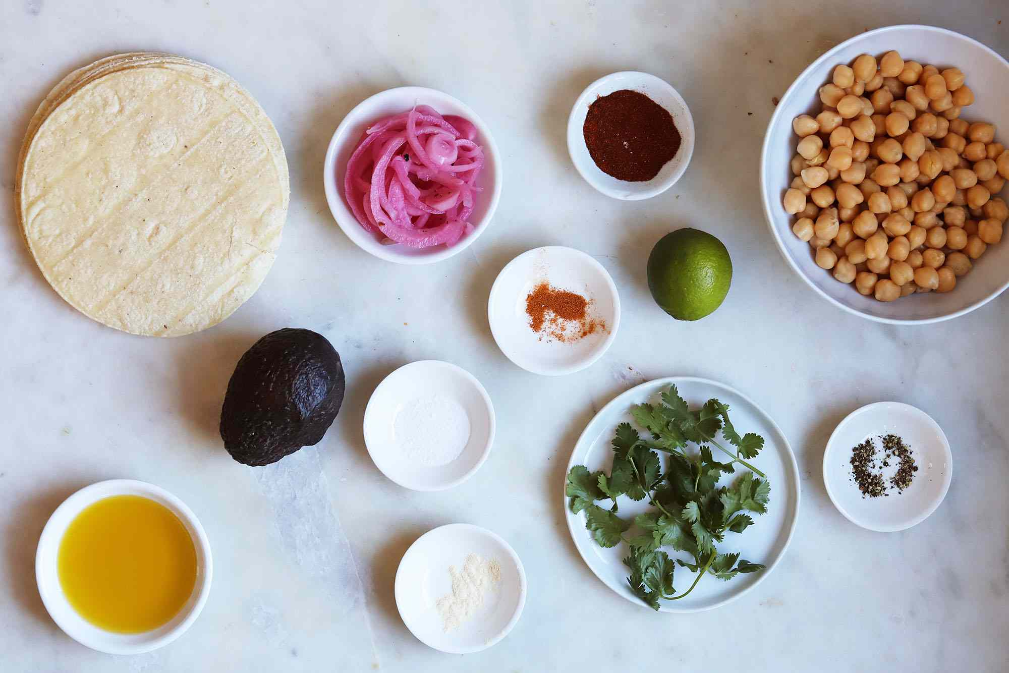 chickpea taco ingredients