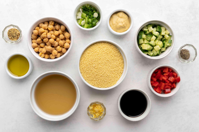 Vegan Couscous Salad With Chickpeas ingredients