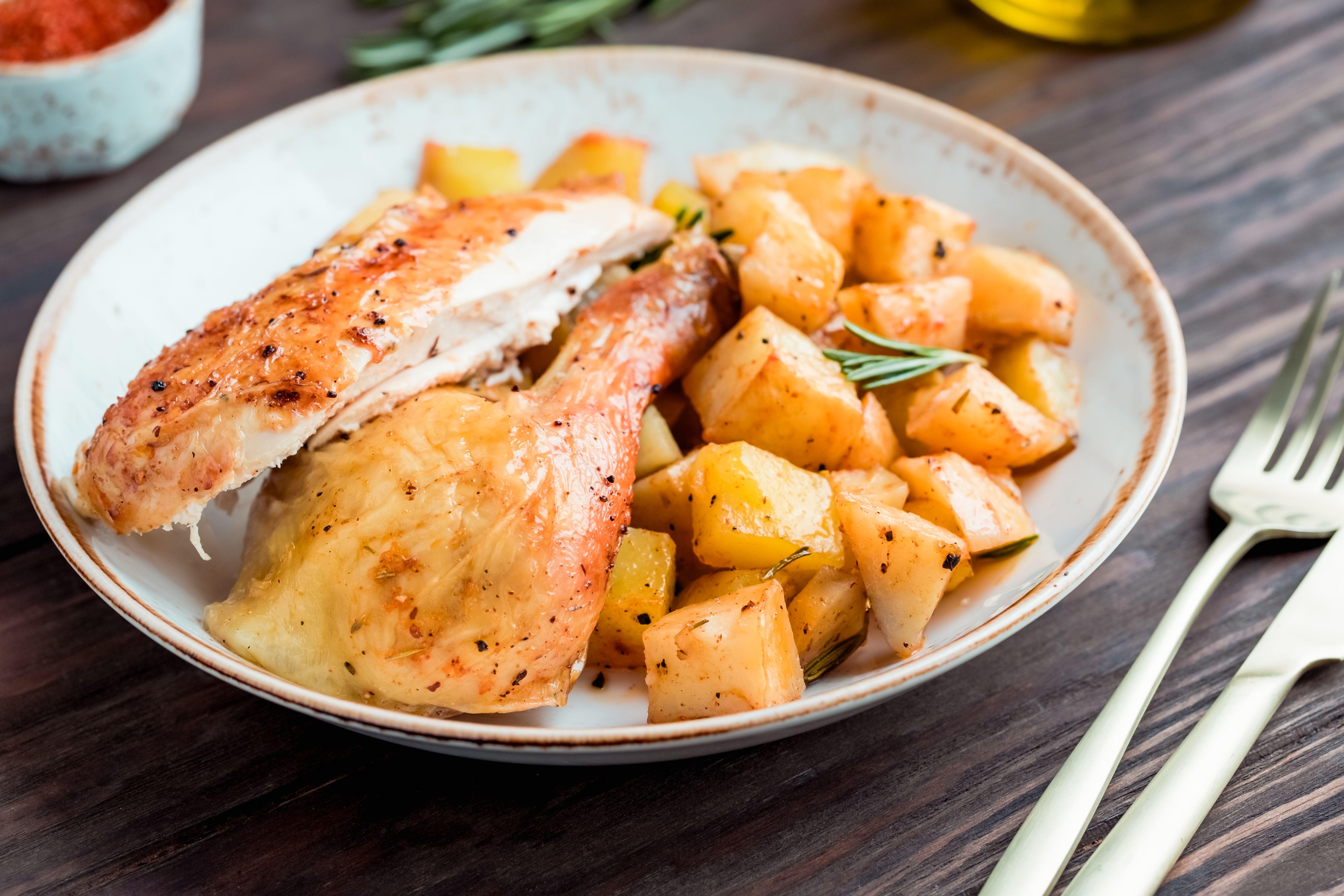Chicken in dish