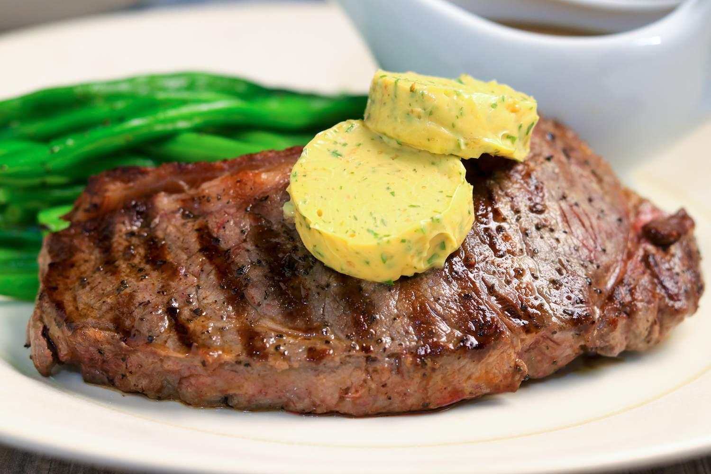 Steakhouse garlic butter on steak