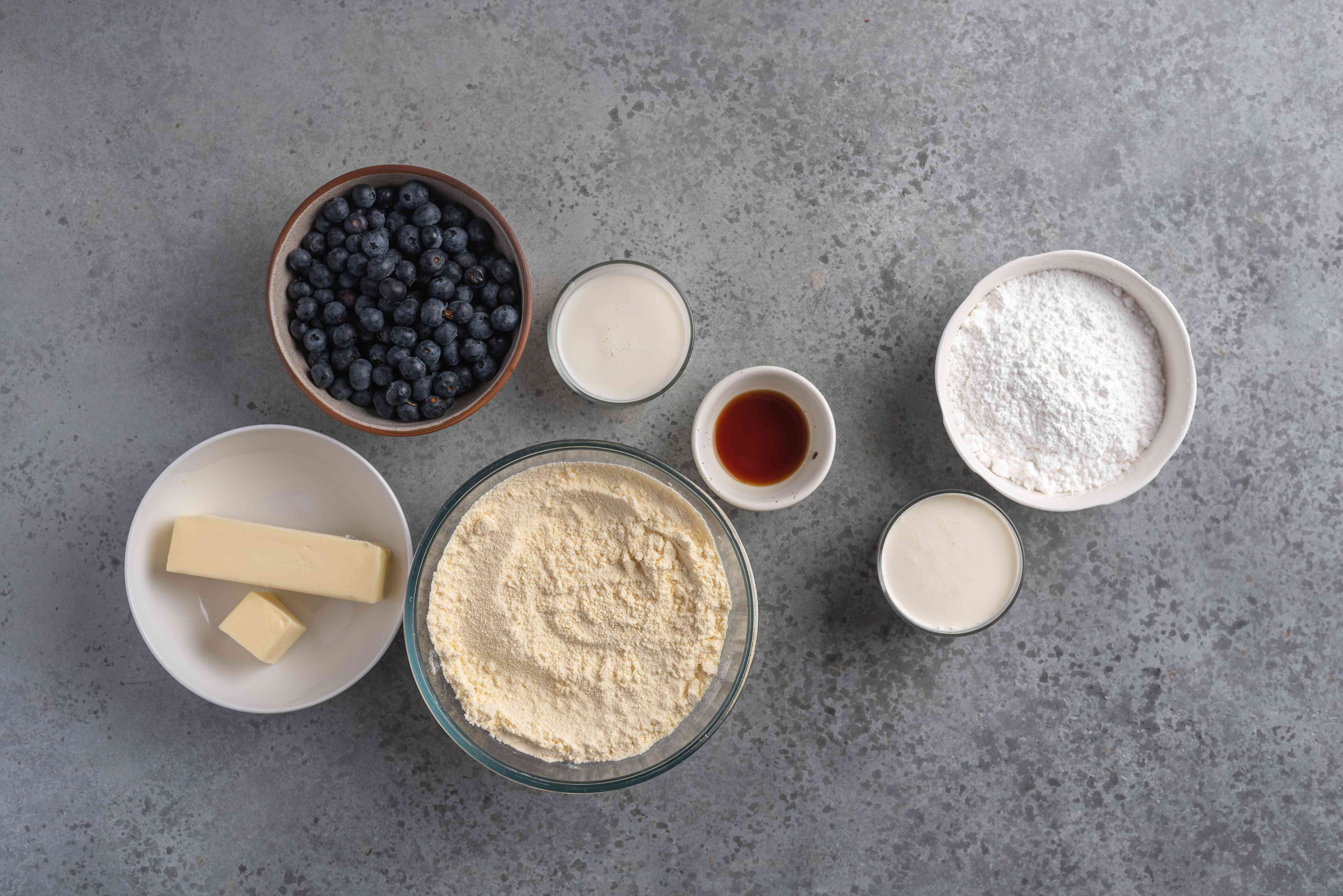 Blueberry Dump Cake ingredients