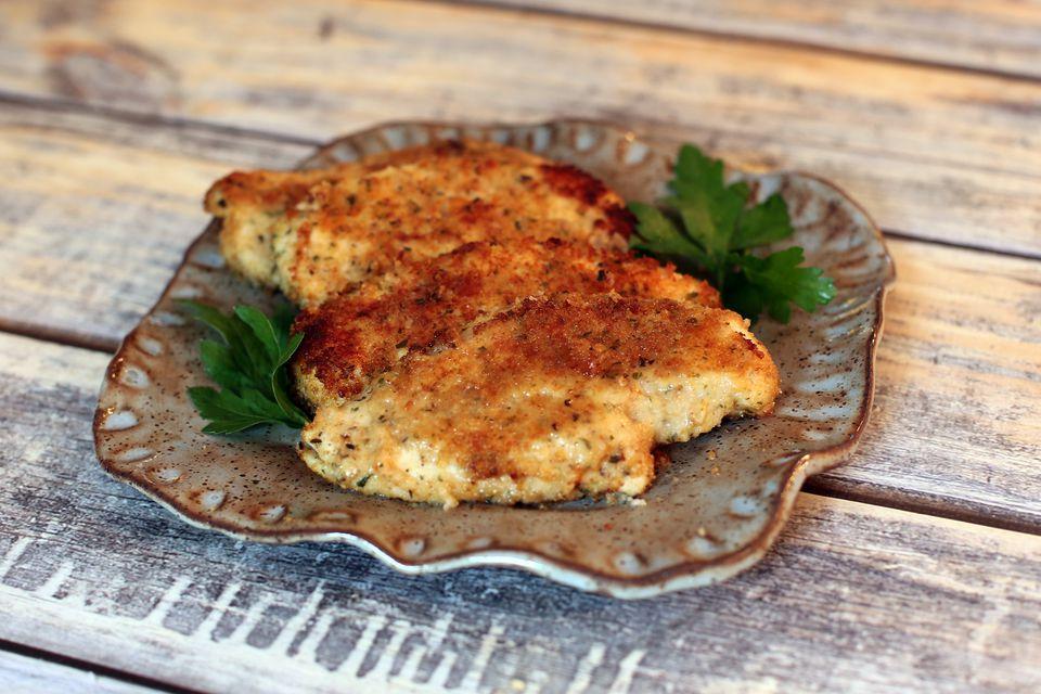 Horneado de pollo con parmesano fácil