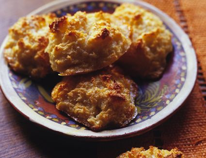 Plate of coconut macaroons