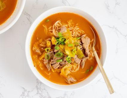 Korean Spicy Noodle Soup Recipe