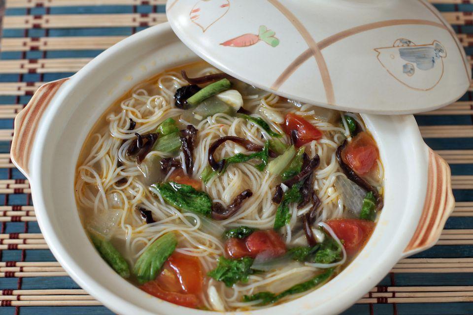 Misua and Wood Ears Mushroom Soup