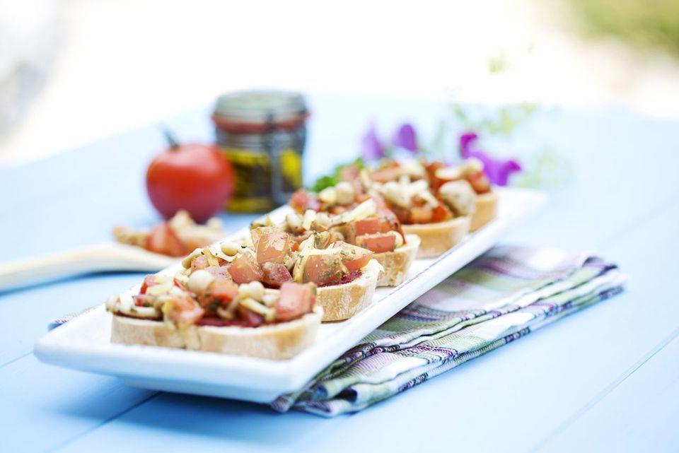 Buttery Garlic Crab Bruschetta