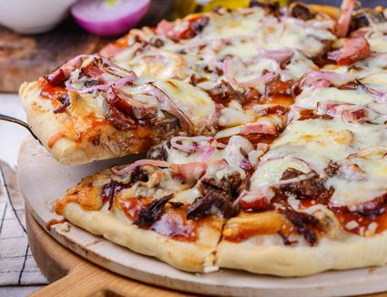 Double crust barbecue pizza