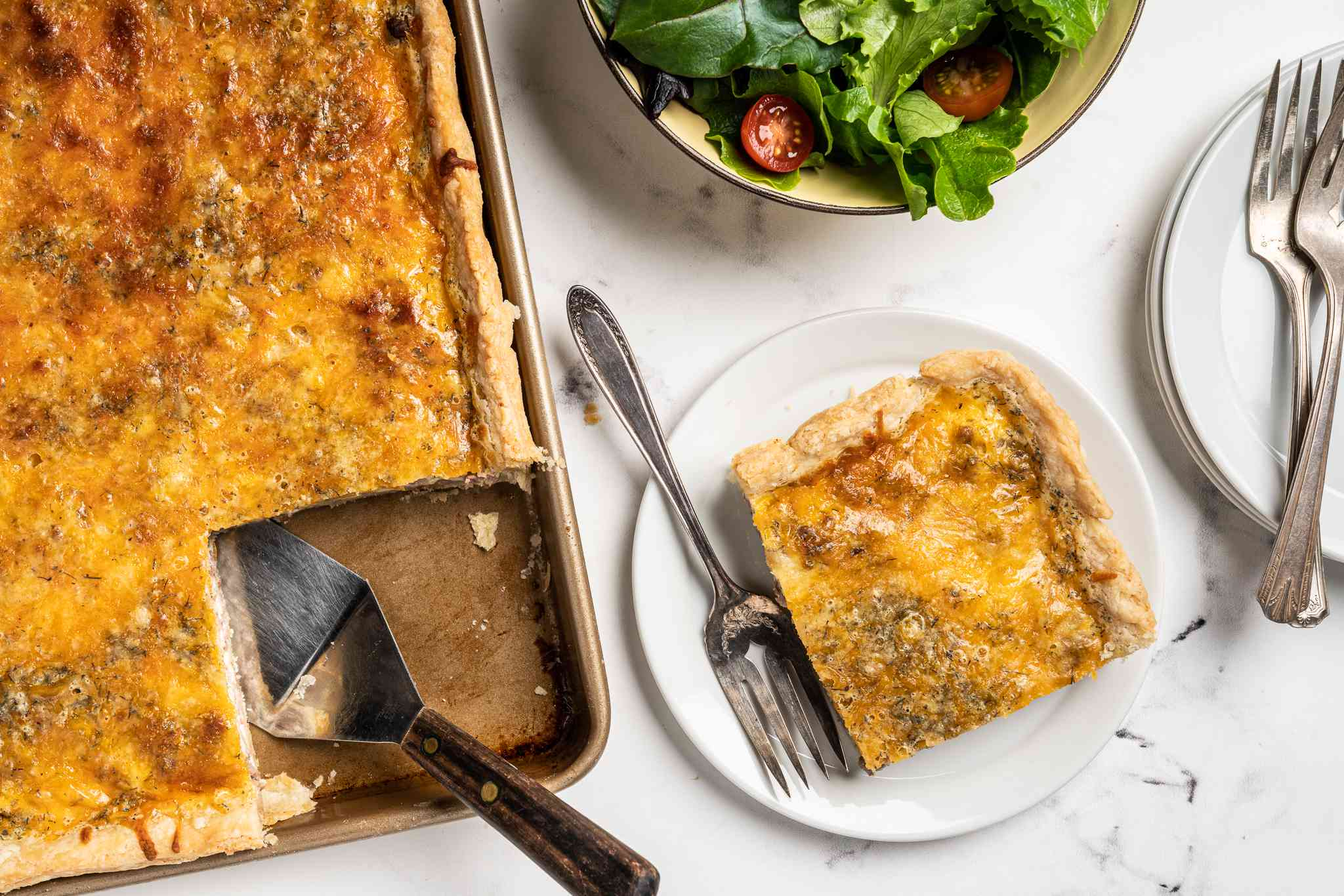 Beef Cheese Pan Quiche