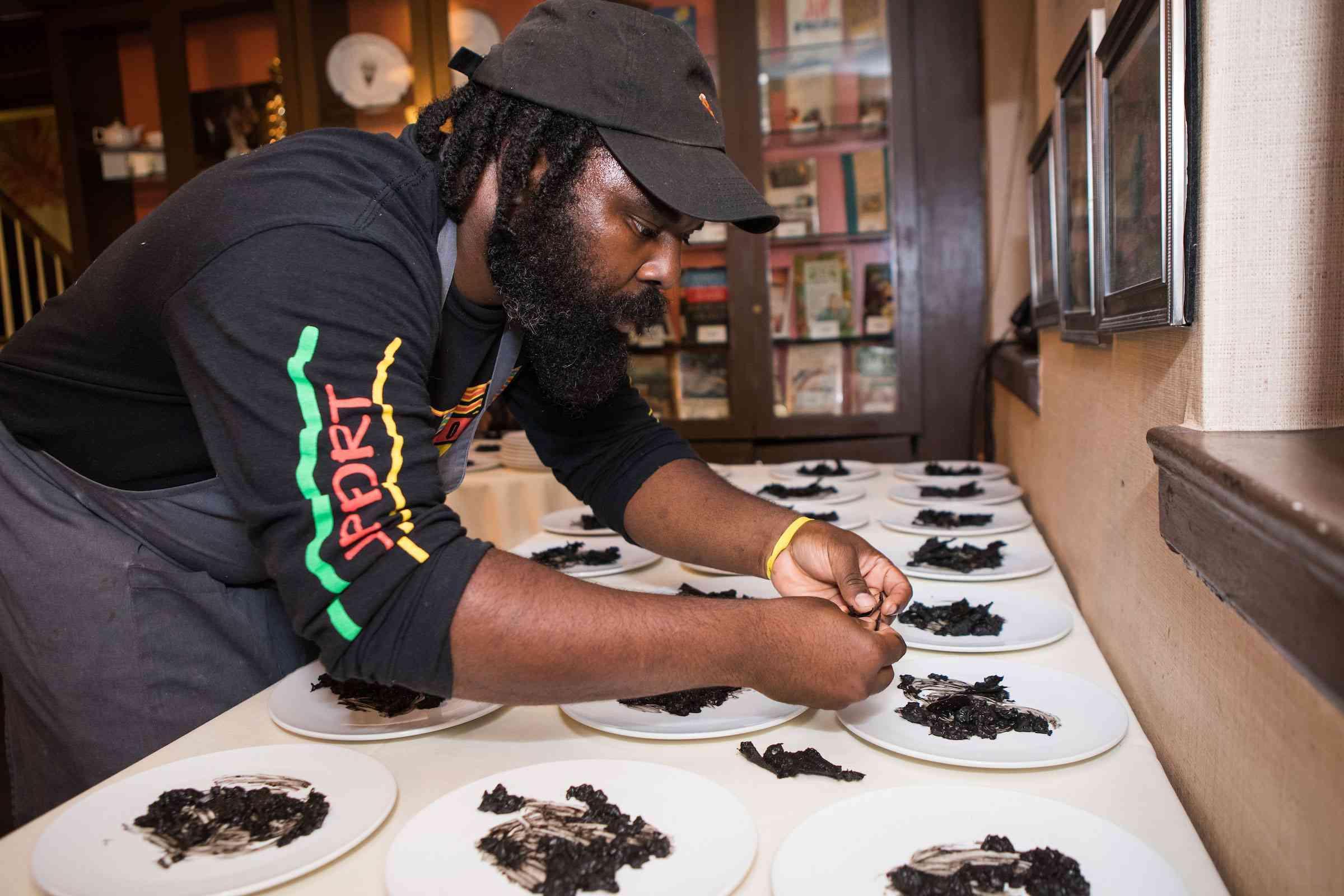 Black Food Folks Chef Plating Dishes
