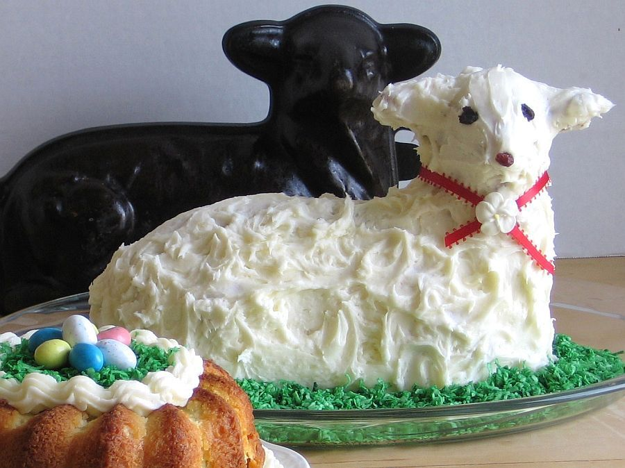 This 1950s cast-iron lamb mold is still used in my family to make lamb pound cake for Easter.